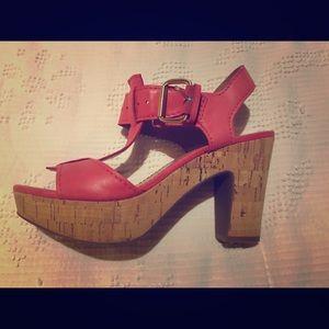 Pink platform Franco Sarto shoes